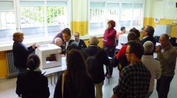 Votacions en un col·legi de Calafell. / Foto:  Jordi Grífols.