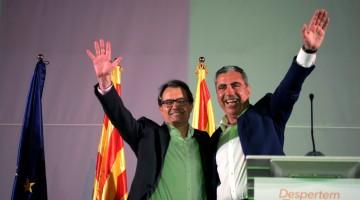 Mas i Abelló, durant l'acte final de campanya de CiU a Tarragona