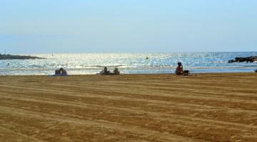 Imatge de la platja de Cunit d'aquest estiu.