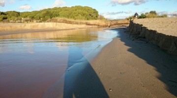 Riu Gaià al seu pas per Altafulla./ Foto: Cedida
