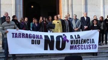 Foto de l'acte prèvi a la lectura del manifest, aquest matí a la Plaça de la Font.