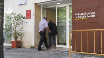La Guàrdia Civil entrant a la seu de l'IMSS./Tomàs Varga
