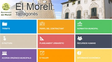 Lloc web de la seu electrònica del Morell.