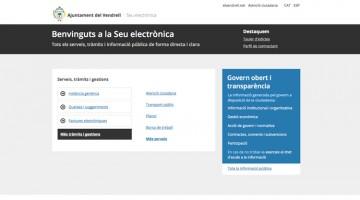 Imatge del Portal de transparència i seu electrònica de l'ajuntament del Vendrell.