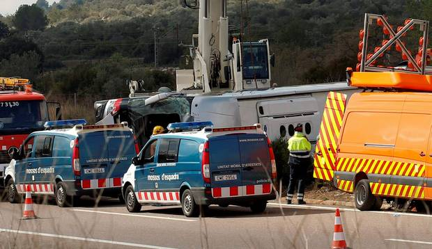Imatge de l'accident a l'AP-7 / font: theindepedents.ie