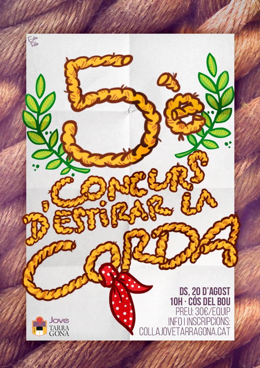 El 5è Concurs d'Estirada de Corda, consolidat com un esdeveniment amb gran èxit entre les  entitats tarragonines